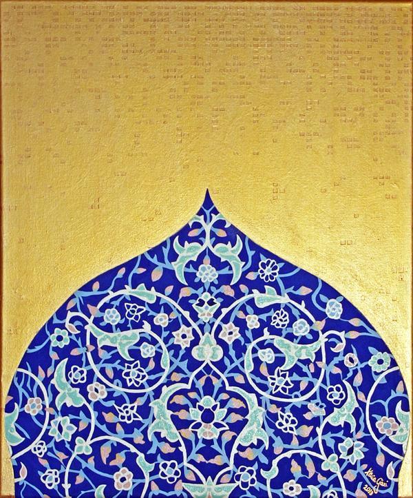 Persian Mosque over the Golden Dunes